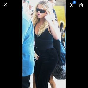 Juicy couture black yoga pants Khloe kardashian